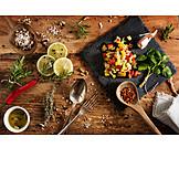 Salat, Zutaten, Zubereiten