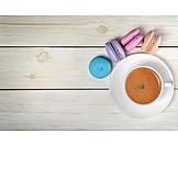 Coffee, Almond Biscuits, Macaroon, Macaron