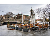 Gastronomy, Bank Of The Spree River, Rain Weather