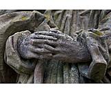 Hands, Folded, Stone Figure