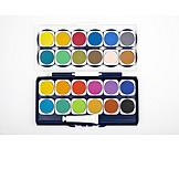 Watercolors, Paintbox, Watercolors