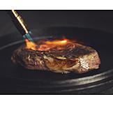 Beef, Flambé