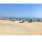 Strand, Sommer, Urlauber