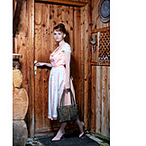 Young woman, Bavarian, Traditional clothing, Dirndl
