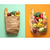 Shopping, Choose, Paper Bag, Plastic Bag
