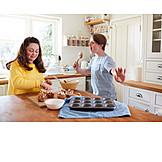Couple, Fun, Kitchen, Baking, Disability