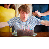 Birthday, Blow Out, Birthday Cake, Birthday Candles, Down Syndrome