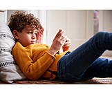 Child, Playing, Online, Smart Phone