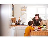 Father, Kitchen, Shopping, Son
