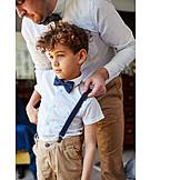 Father, Wedding, Festive, Son, Dressing