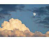 Sky only, Cloudscape, Moon