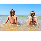 Mädchen, Strand, Meer