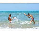 Mädchen, Meer, Spaß, Strandurlaub