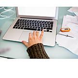Typing, Laptop, Online