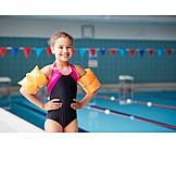 Girl, Swimming Pool, Water Wings