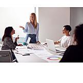 Office, Teamwork, Meeting, Organized Group, Brainstorming