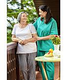Altenpflegerin, Pflegekraft, Häusliche Pflege