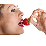 Eating, Strawberry, Mouth