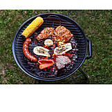 Grilled Meat, Barbecue, Grilled Vegetables
