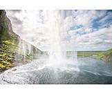 Waterfall, Natural Spectacle, Seljalandsfoss