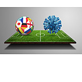 Soccer, International Match, Corona