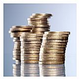 Coins, Savings, Coins, Euro Coin