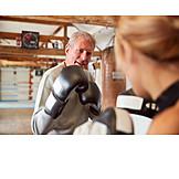 Aktiver Senior, Kampfsport, Boxen