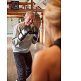 Active Seniors, Fun, Boxing, Workout