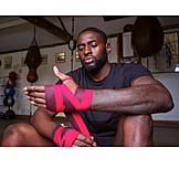 Hand, Boxer, Bandage, Bandaging