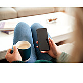 Home, Coffee, Comfortable, Smart Phone