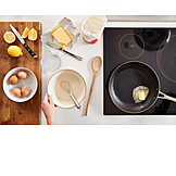 Zubereitung, Teig, Pfannkuchen