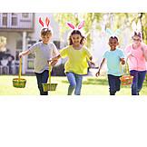 Garden, Easter, Easter Egg, Searching, Childhood