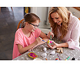 Mother, Easter, Handicrafts, Painting, Daughter, Creative