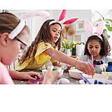 Easter, Easter Egg, Painting, Friends, Rabbit Ears