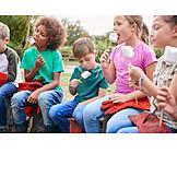 Childhood, Campfire, Friends, Marshmalow