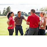 Leisure, Golf, Friends, Golf Course