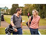 Couple, Golf, Golfing, Golf Equipment