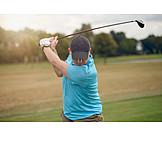 Golf, Tee Box, Golfer