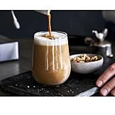 Coffee, Milk Foam, Pouring, Latte, Slats