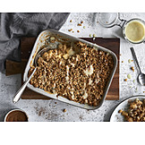 Dessert, Apple Crumble, Pflanzliche Ernährung