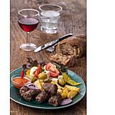 Lunch, Cevapcici, Balkan Cuisine