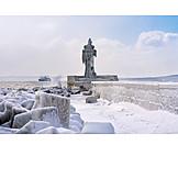 Winter, Baltic Sea Coast, Molen Tower