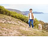 Boy, Walk, Dog, Walk The Dog