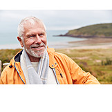 Portrait, Senior, Walk, Hiking