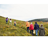 Hiking, Hill, Wales, Climb, Family Outing
