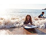 Happy, Water, Surfing, Siblings