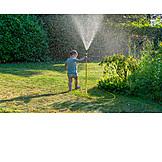 Garden, Summer, Cooling, Garden Hose