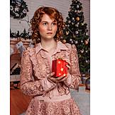 Woman, Christmas eve, Christmas present