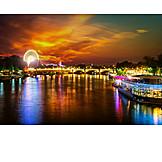 Sunset, Seine, Paris