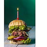 Birthday, Cheeseburger, Party Snack